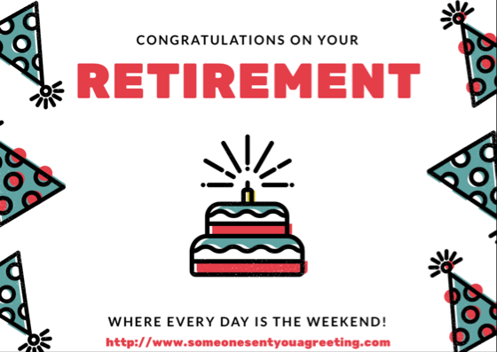 Congratulations on your Retirement ecard
