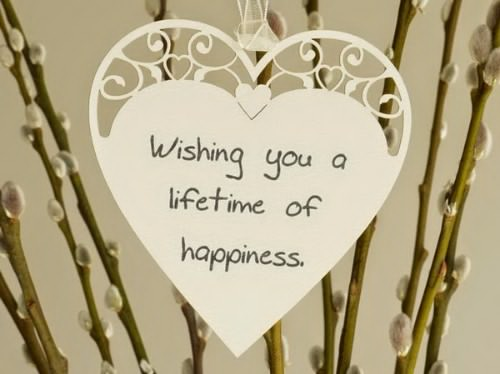 Wedding wishes and messages for a card