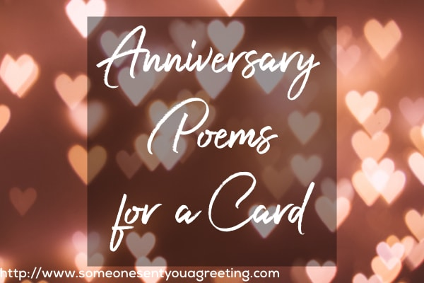 Anniversary Poems for a Card