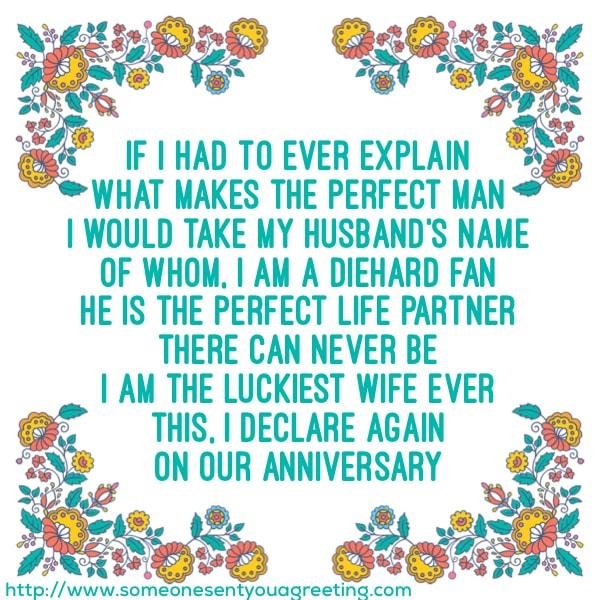 Loving Anniversary Poem for Him
