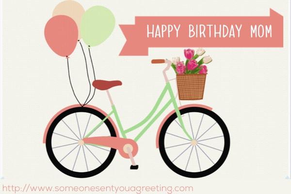 Happy Birthday Mom bicycle image