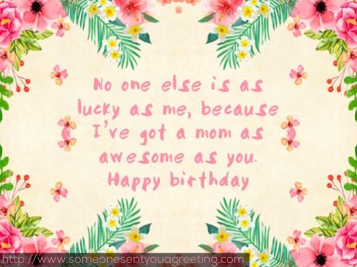 No one else is as lucky as me as I've got a supermom