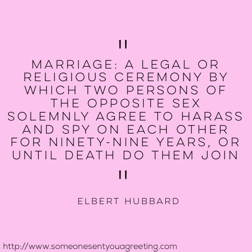 Raymond hull Funny Marriage Quote