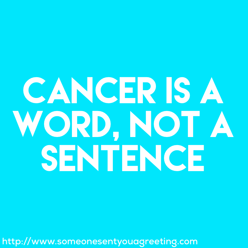 Get well wishes for cancer
