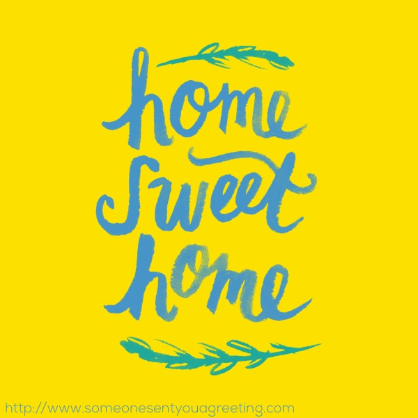 Home sweet home housewarming image