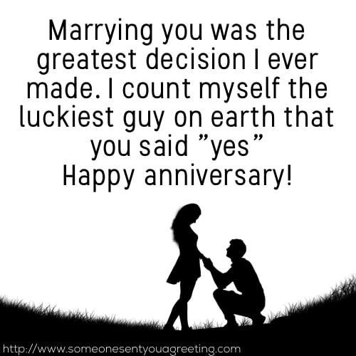 Luckiest guy on earth anniversary saying