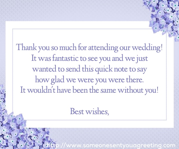 Wedding Thank You Wording And Examples