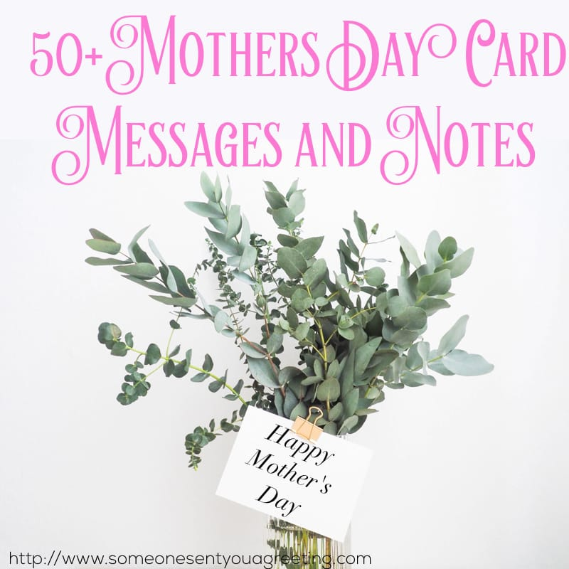 Mother's Day Card Messages and Notes
