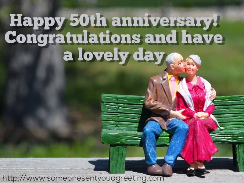Happy 50th anniversary and congratulations
