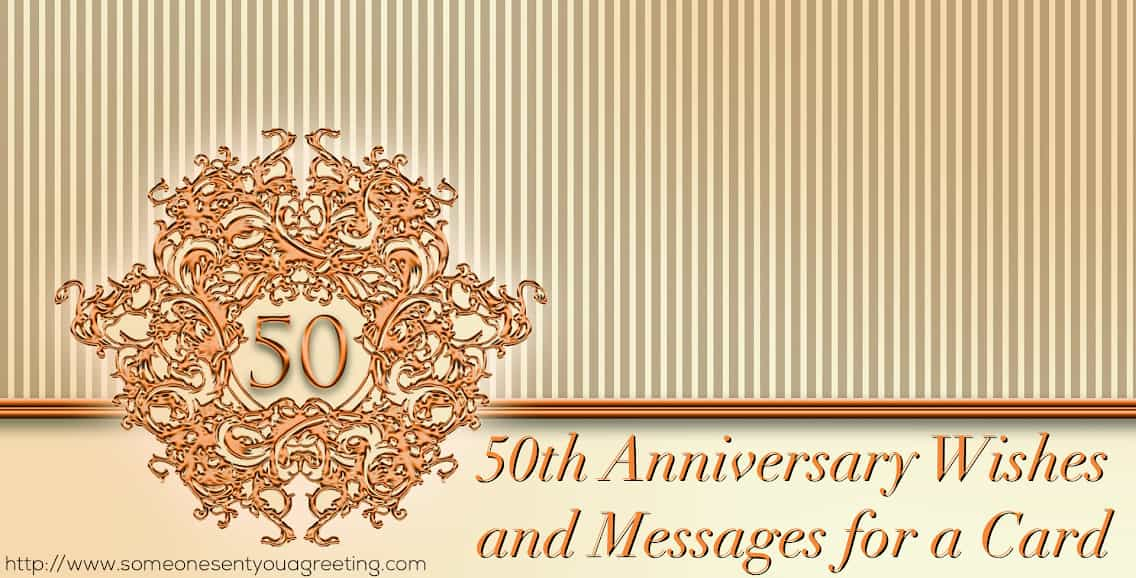 50th anniversary wishes and messages