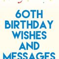 60th Birthday Wishes and Messages