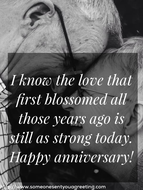 Your love is as strong today happy Anniversary