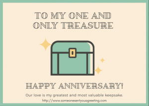Anniversary ecard for couple