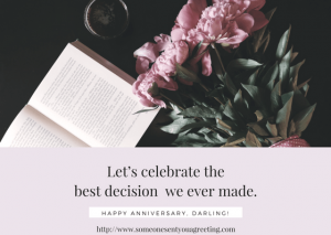 Wedding anniversary ecard