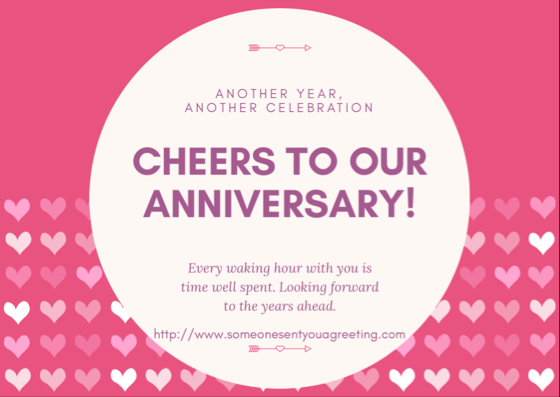 Anniversary ecards for husbands wives and partners someone sent anniversary ecard m4hsunfo