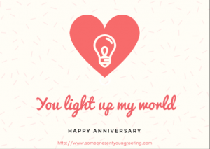 Touching Anniversary eCard for partner