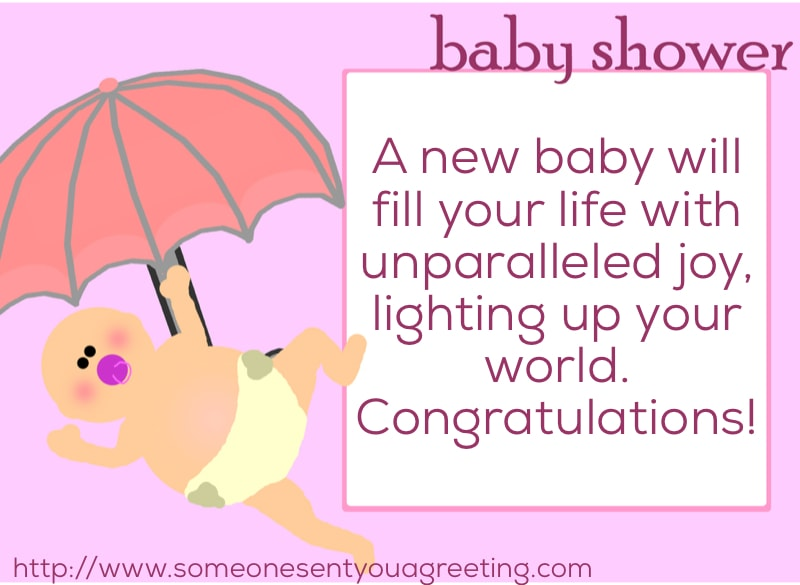 Baby Shower congratulations message