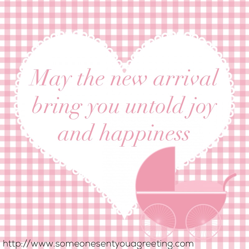 new arrival bring joy message