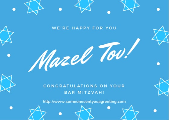 We're happy fit you Mazel tov