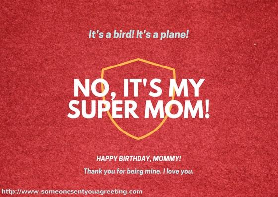 Its a bird it's a plane no it's my supermom