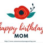 Happy Birthday Mom eCard