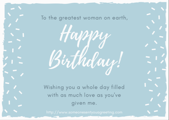 Birthday ECards For Mom Someone Sent You A Greeting