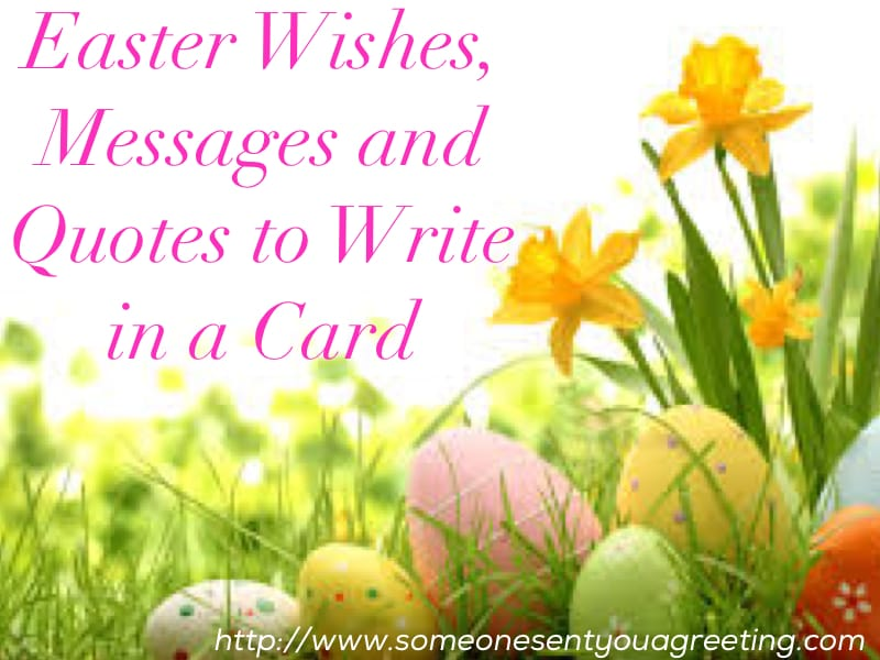 Easter Wishes messages and Quotes to Write in a card