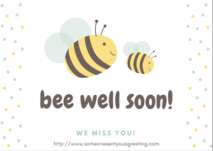 Bee Well Soon eCard