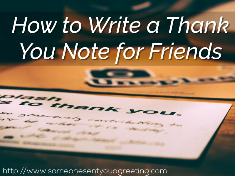 How To Write A Thank You Note For Friends  Someone Sent You A Greeting