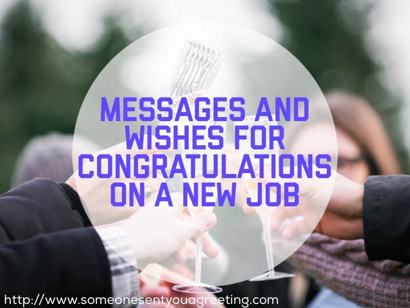 Congratulations on a New Job Messages and Wishes
