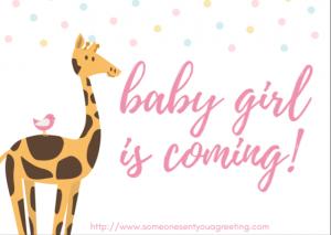 New Baby Girl eCard