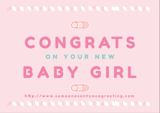 New Baby Girl Congrats eCard