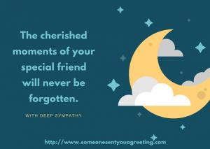 Sympathy Message eCard