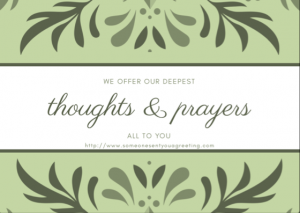 Thoughts and Prayers eCard