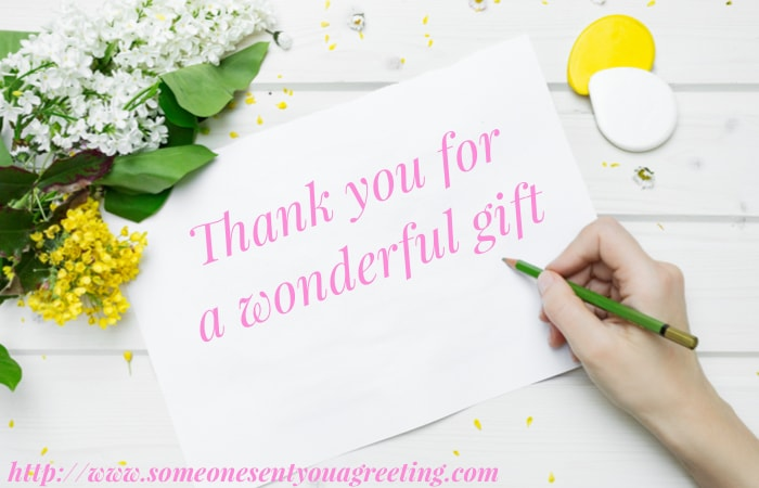Thank You Message for a Gift Received