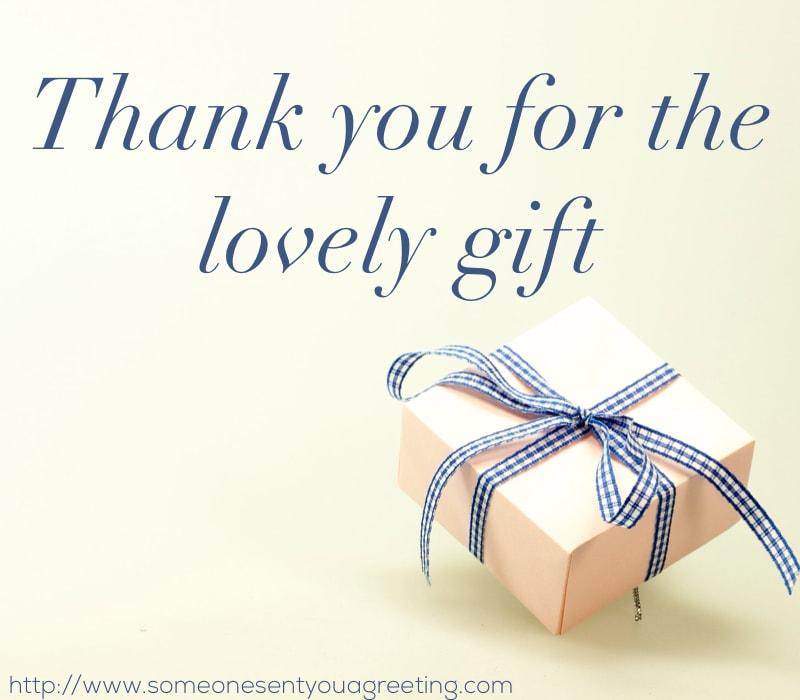 Thank you notes for gifts and cards