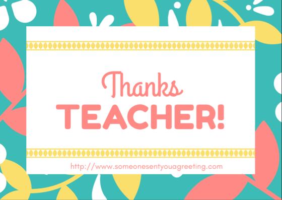 thank you teacher card image