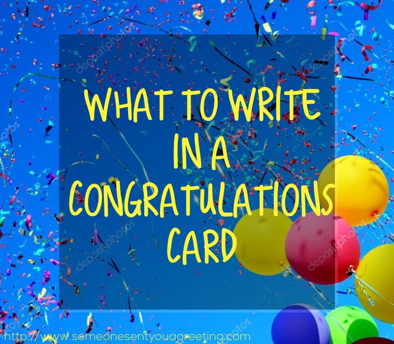 What to Write in a Congratulations Card