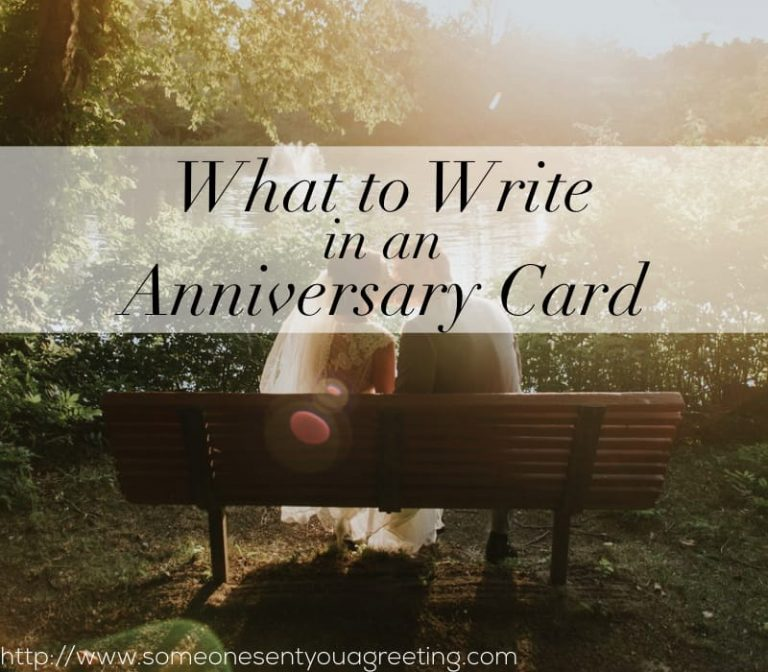 what to write in an anniversary card  someone sent you a