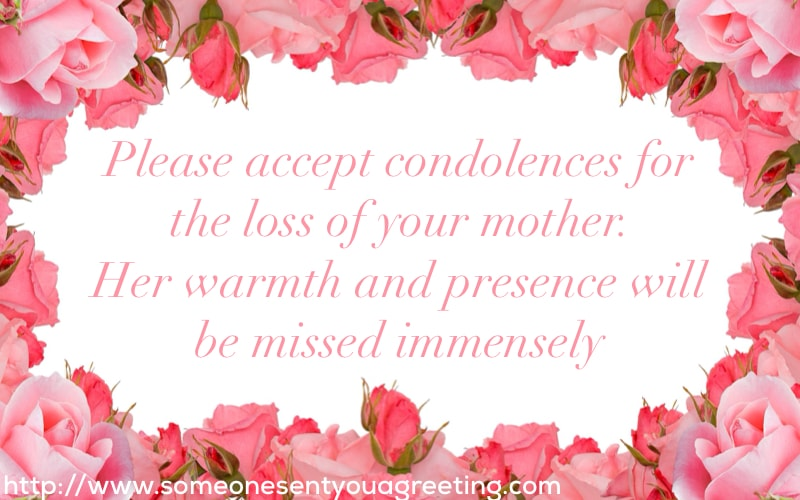 Sympathy Wishes for Loss of Mother