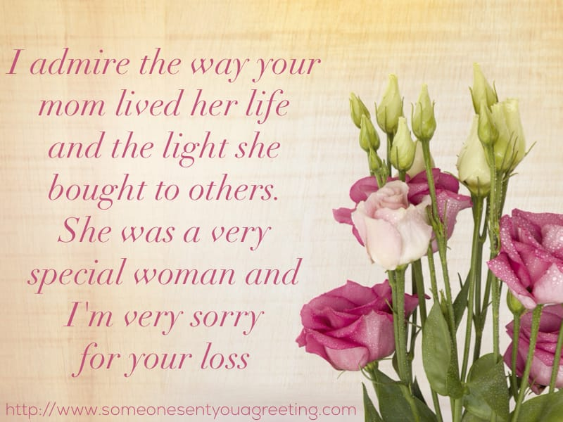 Message of Sympathy for Loss of Mother