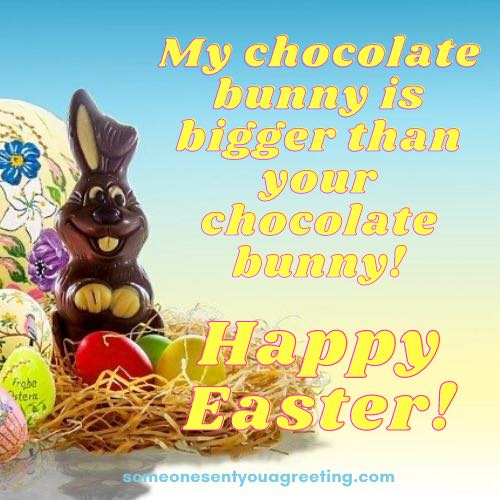 funny Easter bunny message