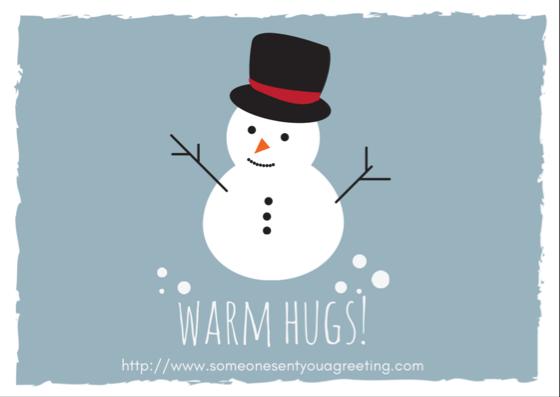 Warm Hugs Christmas eCard