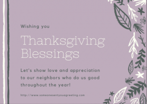 Thanksgiving Blessings eCard