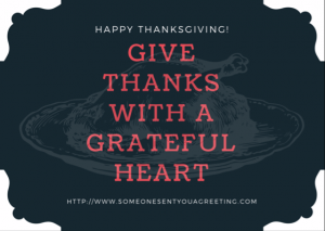 Give Thanks Thanksgiving eCard