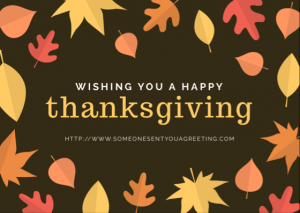 Wishing you a Happy Thanksgiving eCard