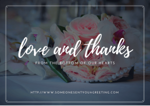 Wedding Love and Thanks eCard