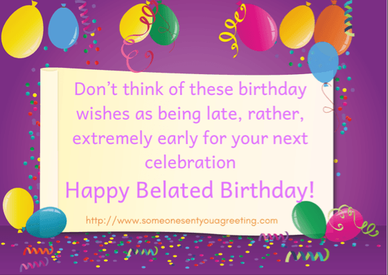 Belated Birthday Messages