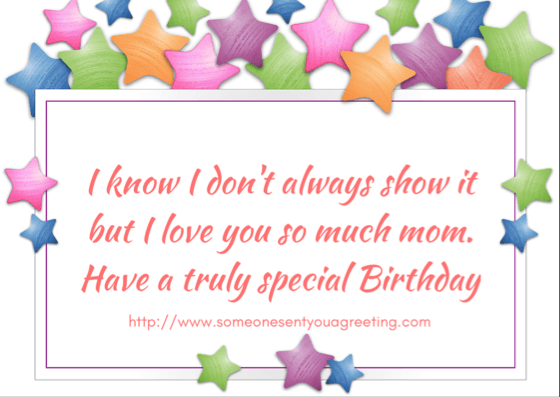 Happy birthday to your Mom