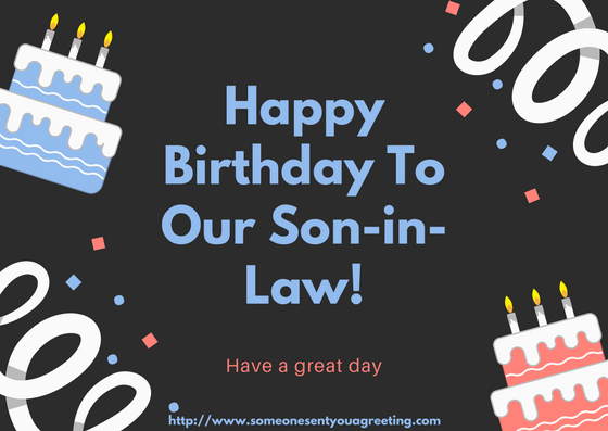 Happy Birthday Son-in-Law